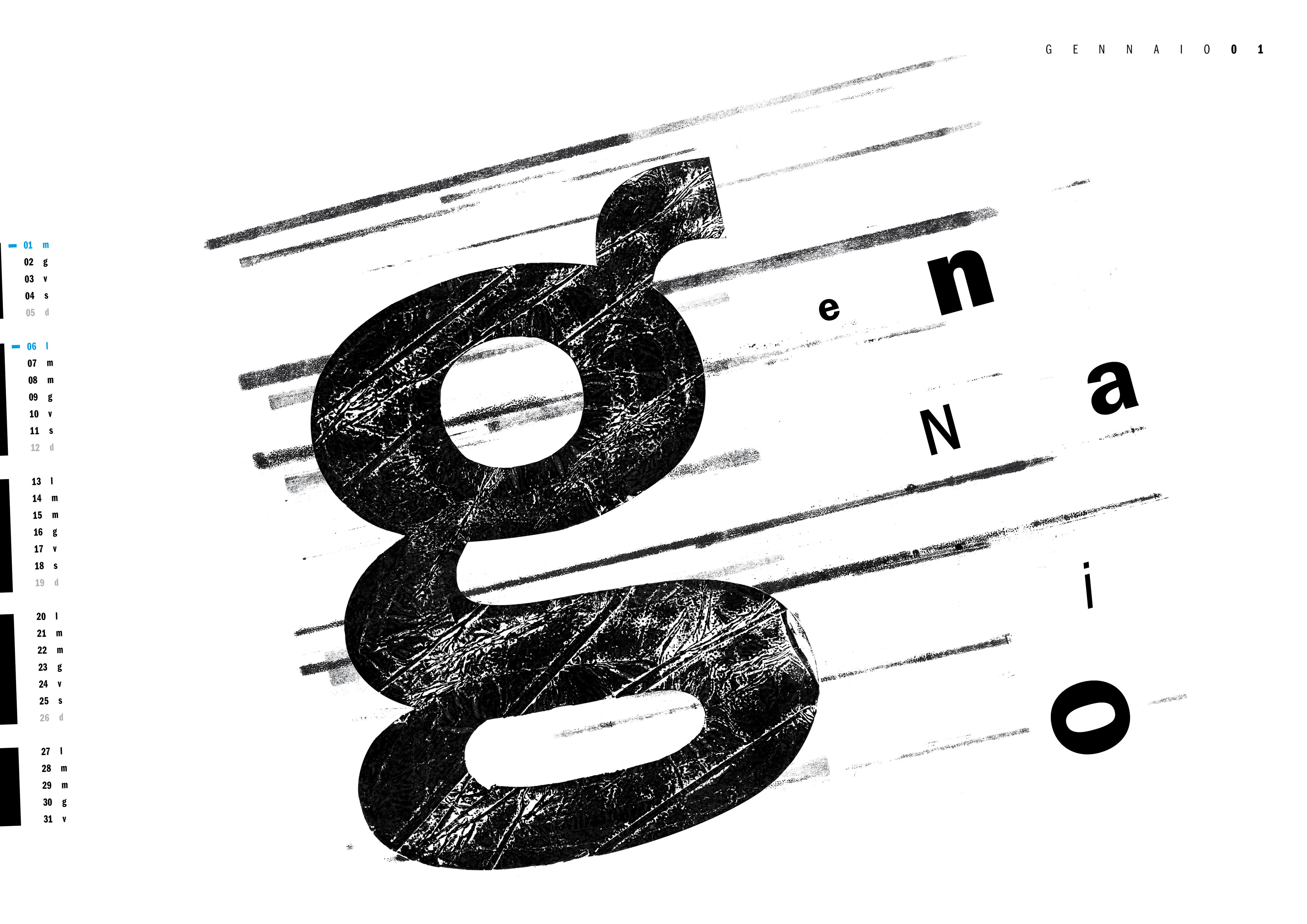 Experimenting layout composition using letterpress techniques.